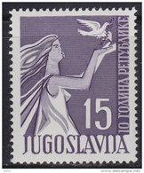 Yugoslavia 1955 The Republic - 10th Anniversary, MNH (**) Michel 775 - 1945-1992 Socialist Federal Republic Of Yugoslavia