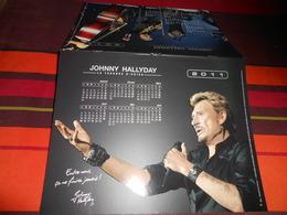 Calendrier  De La Poste 2011 JOHNNY HALLYDAY La Tournée D'adieu/entre Nous ça Ne Finira Jamais !voir Photo Recto -verso - Grand Format : 2001-...