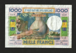 FRENCH AFARS & ISSAS, TRESOR PUBLIC DJIBOUTI 1,000 1000 FRANCS ND (1974) P-32 VF - Djibouti