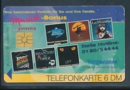 GERMANY Telefonkarte O 520 98 Musical Bonus Stella Hotline - Auflage 30000 - Siehe Scan - 15450 - Deutschland