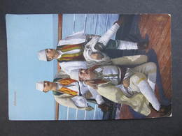 AK ALBANIEN 1917 Tracht Costumi Feldpost //  D*34628 - Albanien