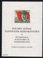6. April 1956 70. Geburtstag Von Ernst Thalmann Michel Block 14 Postfrisch Xx - DDR