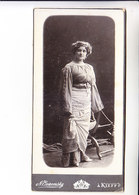 EMILY KARENINA ( GOROWITZ ) MUSIC OPERA  RUSSIA JUDAICA  Photo  AUTOGRAPH KIEV 19.02.1906 85x170 Mm - Autographs