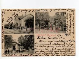 Varjas  Variaș 1904 Állmás Bahnhof Station Gyógyszertár Pharmacy Apotheke - Romania