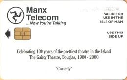 Isle Of Man - Man0159, 100 Years Theatre, Comedy, 6,000ex, 2000, Used As Scan - Isla De Man