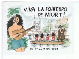VIEUX PAPIERS-79-NIORT-1999-ILLUSTRATEURS WOLINSKI-FOIRE DE NIORT- - Publicités