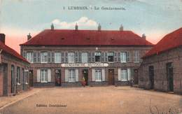 62 - Lumbres - La Gendarmerie Nationale Animée - Carte Colorisée - Lumbres