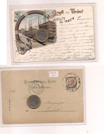 2704) Friuli Venezia Giulia TRIESTE Gruss LITHO 1897 Viaggiata X Spalato Split - Saluti Da.../ Gruss Aus...