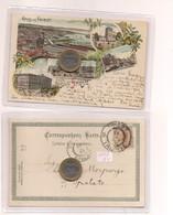 2706) Friuli Venezia Giulia TRIESTE Gruss LITHO 1898 Viaggiata X Spalato Split - Saluti Da.../ Gruss Aus...