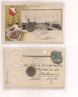 2707) Friuli Venezia Giulia TRIESTE Gruss LITHO 1903 Viaggiata - Saluti Da.../ Gruss Aus...