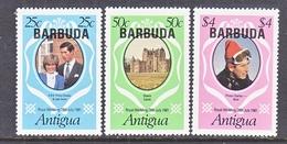 BARBUDA  497-99  **  ROYAL  WEDDING  PRINCESS  DI - Antigua & Barbuda (...-1981)