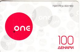 F.Y.R.O.M. - ONE Prepaid Card 100 Dinars, Exp.date 05/12/12, Used - Macedonië