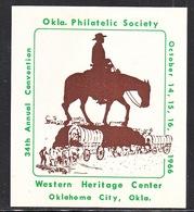 U.S.  OKLAHOMA  PHILATELIC  STAMP  EXPO. 1966 - United States