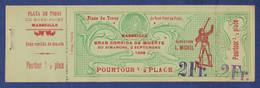 BILLET D'ENTREE COMPLET PLAZA DE TOROS DU ROND-POINT DU PRADO A MARSEILLE - CORRIDA DU 2 SEPTEMBRE 1906 - Tickets D'entrée