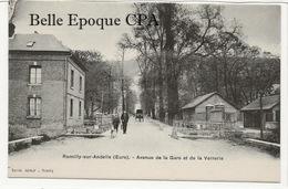 27 - ROMILLY-sur-ANDELLE - Avenue De La Gare Et De La Verrerie +++++ Édit. Daniel, Romilly ++++ Parfait état - France