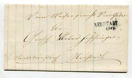 Baden / 1868 / Brief L2-Stempel NEUSTADT (25794) - Deutschland