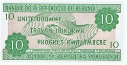 BURUNDI - 10 UNITE- UBUMWE - 10 FRANCS - NEUF - Burundi
