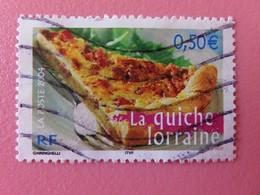Timbre France YT 3652 - Portraits De Régions - La France à Vivre - La Quiche Lorraine - 2004 - Used Stamps