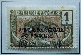 1907 - MOYEN CONGO  - Y&T 48 Surcharge AEF Oblitéré - Congo Français (1891-1960)