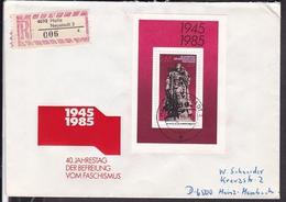 DDR FDC 1985 40.Jahrestag Des Sieges über Den Hitlerfaschismus , Blockausgabe - FDC: Briefe