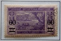 Timbre ( Ex-colonies & Protectorats ) COTE D'IVOIRE  Y&T 59 Ebrié Lagoon Oblitéré - Côte-d'Ivoire (1892-1944)