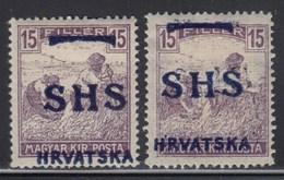 Yugoslavia State SHS Croatia 1918 Definitive, Error - Moved Overprint, MH (*) Michel 71 - Unused Stamps