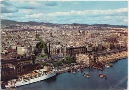 BARCELONA, Town Form The Sea, Vista De La Ciudad Desde El Mar, 1966 Used Postcard [22017] - Barcelona