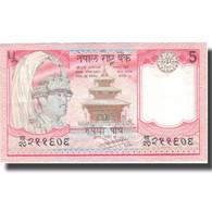 Billet, Népal, 5 Rupees, KM:30a, SUP - Népal