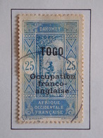 1916 - TOGO Y&T 91 (Stamp Of Dahomey In 1913 Overloaded) Oblitéré - Oblitérés