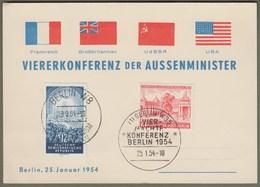 """Berlin: Sonderkarte, Gedenkkarte DDR Mi-Nr. 424 U. Berlin Mi-Nr. 116 ESST: """" Viererkonferenz Der Außenminister """" !   X - Storia Postale"""