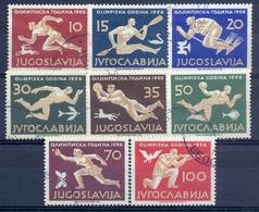 YU 1956-804-11 OLYMPIC GAMES MELBURNE, YUGOSLAVIA, 8v, Used - 1945-1992 Sozialistische Föderative Republik Jugoslawien