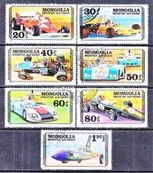 MONGOLIA  997-1003   (o)    CAR  RACING - Cars