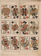 Le Nouveau Jeu - Cartes à Jouer -  Décembre 1898 - Affaire Dreyfus - Dessin De J. Dépaquit - 3 Scans - Affiches