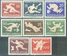 YU 1956-804-11 OLYMPIC GAMES MELBOURNE, YUGOSLAVIA, 1 X 8v, MNH - 1945-1992 Sozialistische Föderative Republik Jugoslawien