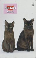 Télécarte Japon / 110-011 - ANIMAL - CHAT ** KALKAN ** - CAT Japan Phonecard - KATZE  GATTO  GATO - KAT 4781 - Gatos