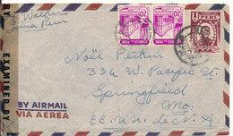 Peru Censored (30202) Air Mail Cover Sent To USA 1945 - Peru