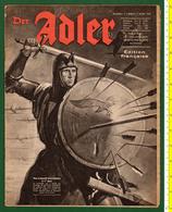 B-36266 Germany 7.3.1944 [WWII]. Propaganda Magazize ADLER, French Edition. - Books, Magazines, Comics
