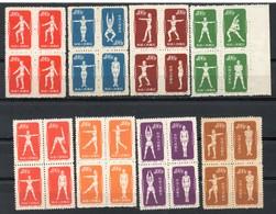 China Chine : (7007) S4** Gymnastique Par La Radio SG1543/52 (série Non Complète) - Réimpressions Officielles