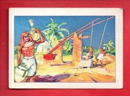 """BILLET DE SATISFACTION . L'EAU À TRAVERS LES ÂGES . """" LE CHADOUF """" . CHROMO . """" BON POINT """" - Réf. N°19587 - - Diplômes & Bulletins Scolaires"""