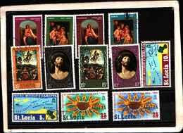 73283)  SANTA LUCIA-LOTTO FRANCOBOLLI -USATI - St.Lucia (1979-...)