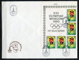 Moscú 1980. Bulgaria 1979. Yvert 2518-23 X 5. FDC. - Verano 1980: Moscu