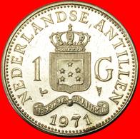 # JULIANA (1948-1980): NETHERLANDS ANTILLES ★ 1 GULDEN 1971! LOW START ★ NO RESERVE! - Antillen (Niederländische)