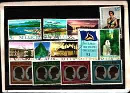 73285)  SANTA LUCIA-LOTTO FRANCOBOLLI -USATI - St.Lucia (1979-...)