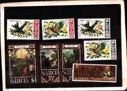 73286)  SANTA LUCIA-LOTTO FRANCOBOLLI -USATI - St.Lucia (1979-...)