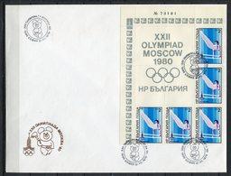 Moscú 1980. Bulgaria 1979. Yvert 2477-82 X 5. FDC. - Verano 1980: Moscu