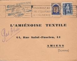 """LSC 1953 -  Cachet CONSTANTINE Et Flamme """"souscrivez Aux Bons De L'équipement De L'Algérie"""" - Algérie (1924-1962)"""