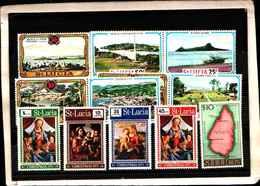73288)  SANTA LUCIA-LOTTO FRANCOBOLLI -MNH** - St.Lucia (1979-...)