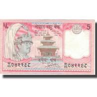 Billet, Népal, 5 Rupees, KM:30a, TTB+ - Népal