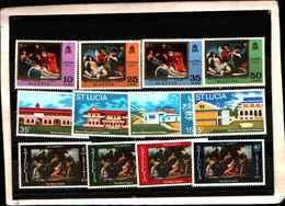 73289)  SANTA LUCIA-LOTTO FRANCOBOLLI -MNH** - St.Lucia (1979-...)