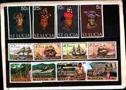 73290)  SANTA LUCIA-LOTTO FRANCOBOLLI -MNH** - St.Lucia (1979-...)